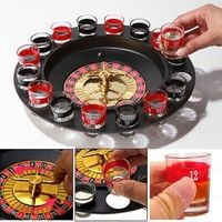 Wish | Shot Glass Roulette Set Novelty Drinking Game with 16 Shot Glasses
