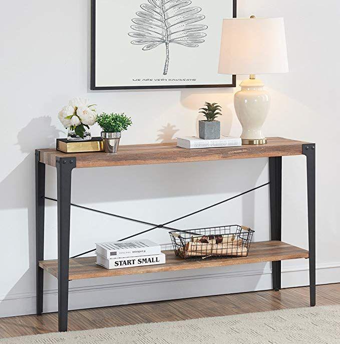Amazon Com O K Furniture Industrial Rustic 2 Tier Occasional