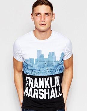 Camiseta con relieve y estampado New York de Franklin & Marshall