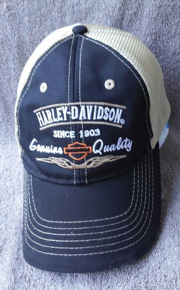 d7f1026d6 Harley-Davidson Hat Cap Biker Motorcycle Vintage Genuine Quality ...