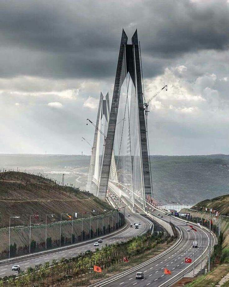 Yavuz Sultan Selim bridge -Istanbul Turkey ..