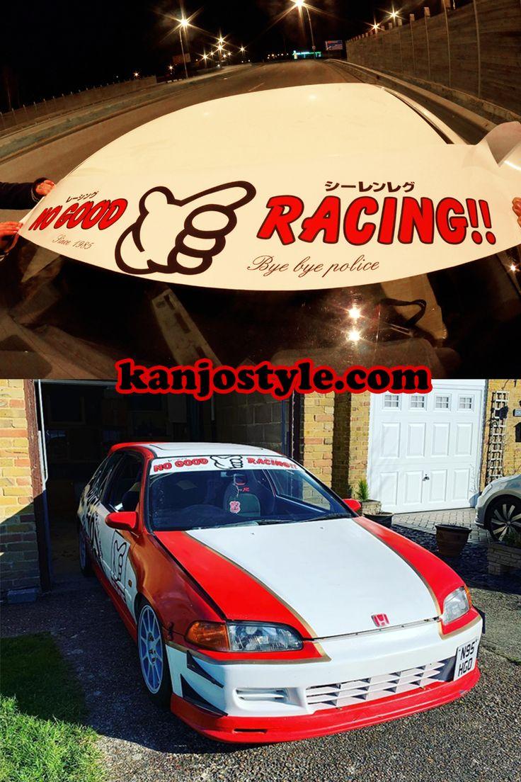 Kanjo No Good Racing Windshield Banner Racing