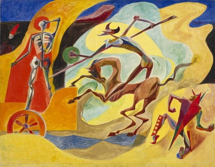 André Masson - Don Quixote and the Chariot of Death