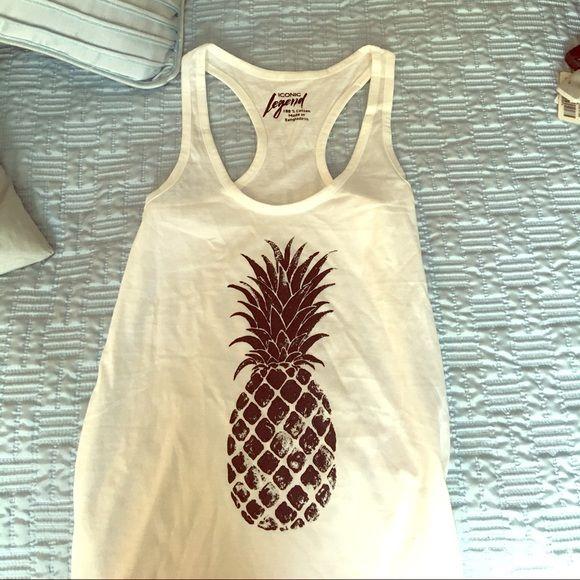 Brand new adorable pinapple shirt New!! Size large. Not billabong Billabong Tops Tank Tops
