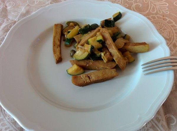 Seitan Capperi e Zucchine