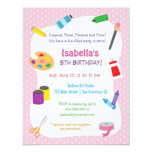 244 best themed kids birthday invitations images on pinterest polka dots arts and crafts kids birthday party card filmwisefo Images