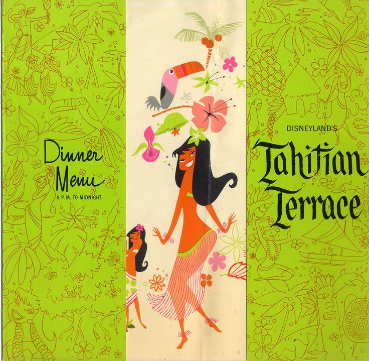 Tahitian Terrace dinner menu, Disneyland