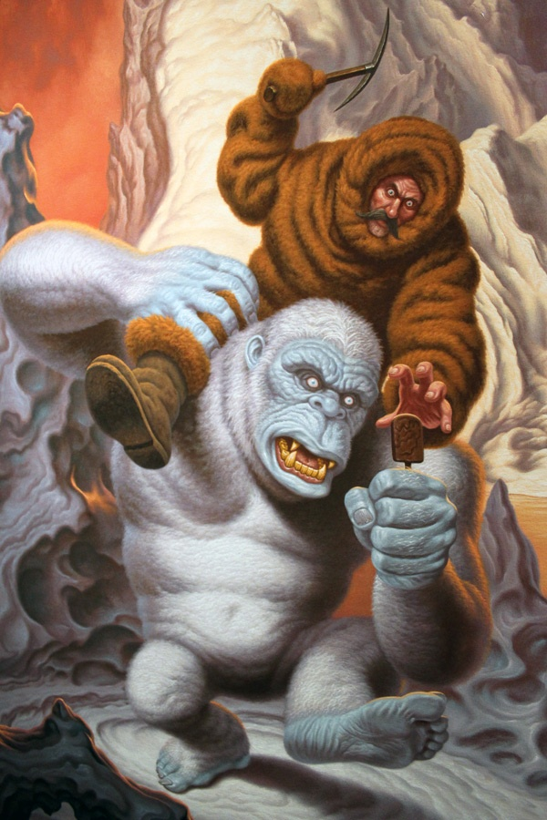 Todd Schorr at Merry Karnowsky Gallery –more (fighting for your life) images @ http://www.juxtapoz.com/Current/in-la-todd-schorr-merry-karnowsky-gallery – gallery, opening