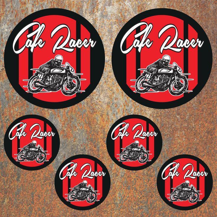 Cafe Racer Sticker set Motorbike Motorcycle Helmet Race Biker Rocker Decals