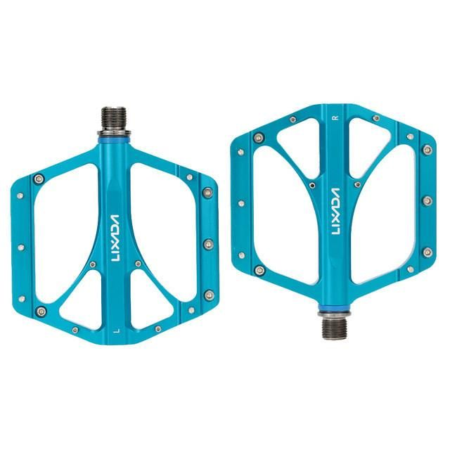 "2Pcs LIXADA Bicycle Pedals MTB Folding Bicycle CNC Aluminum Alloy Sealed Bearing Platform Pedals 9/16"" Cycling Pedal"