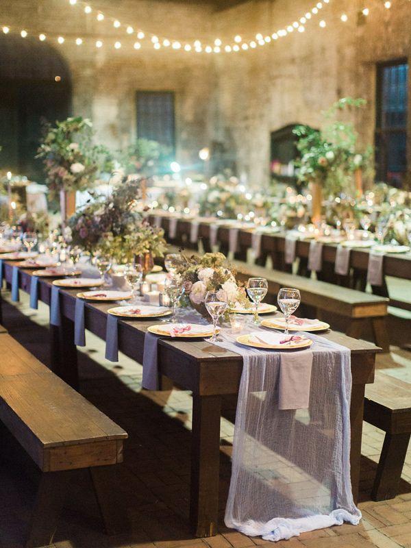 romantic reception table - photo by The Happy Bloom http://ruffledblog.com/savannah-wedding-with-a-korean-twist