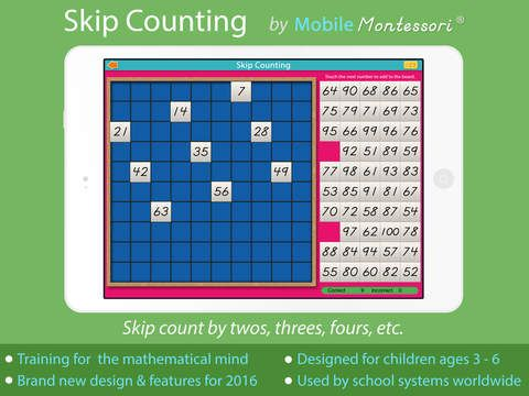 Skip Counting - A Montessori Approach to Math by Rantek Inc.