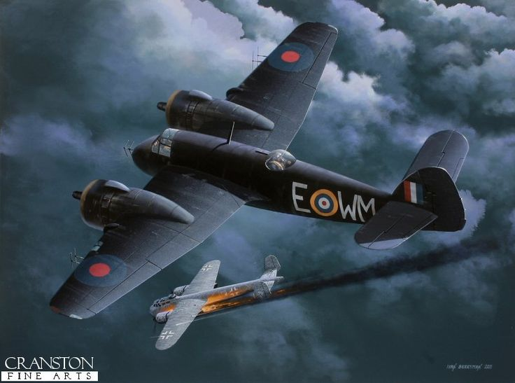 On the night of 28th / 29th May 1942, Beaufighter X7583, piloted by Flt Sgt Ladislaw Bobek with Sgt Kovaric as navigator, intercepted a lone Dornier Do217 off the coast of Norfolk, sending it plunging into the North Sea after a 20 minute chase.  This was the first of Bobek's victories for 68 Sqn which was made up almost entirely of Czech exiles, the squadron being based at High Ercall.  Flt Sgt Ladislaw Bobek would go on to become an Ace with 5 confirmed victories.