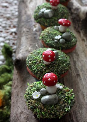 lil fish studios: woodland birthday cupcakes