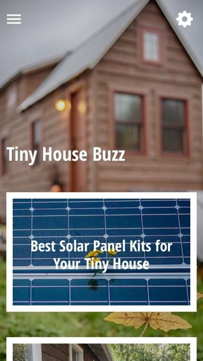 Tiny House Buzz App