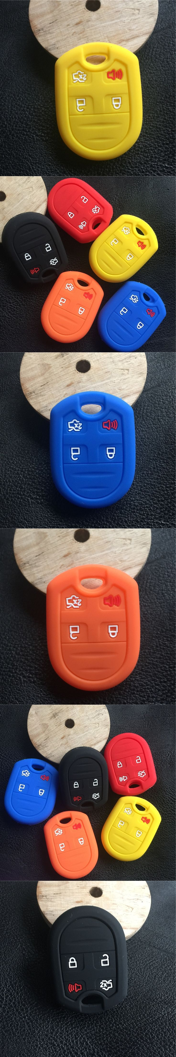 Silicone car  key case Cover fit for FORD LINCOLN Navigator Fusion Escape Taurus  Explorer Mustang Flex