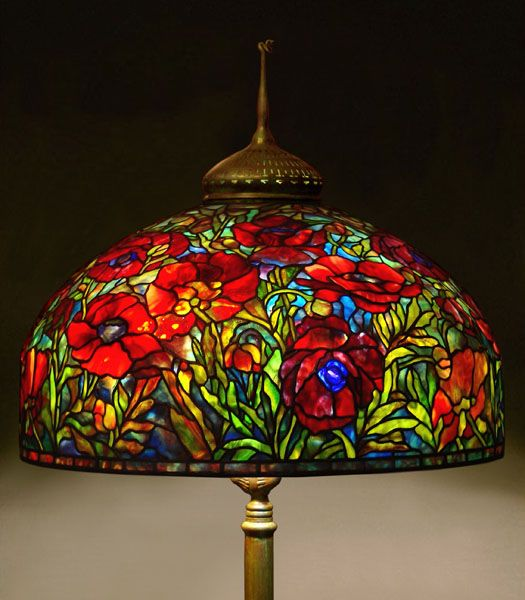 Original Tiffany Lamps U Tiffany Oriental Poppy Lamp Gale Oblerus Stained  With Tiffany Lamp.