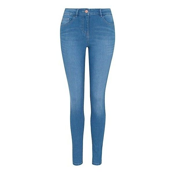 George Skinny Fit Jeans ($17) ❤ liked on Polyvore featuring jeans, pants, blue, skinny leg jeans, zipper pocket skinny jeans, button-fly jeans, blue jeans and flap-pocket jeans