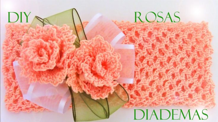 DIY rosas y diademas hermosas - roses and beautiful headbands to crochet