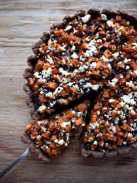 swiss chard, sweet potato and feta tart. | Yummy Recipies | Pinterest