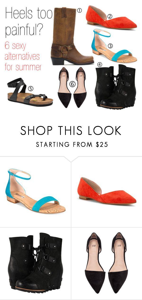 """Sexy alternatives to heels"" by becca-gerber on Polyvore featuring INC International Concepts, Marc Fisher LTD, SOREL, Birkenstock, Heels, shoes and alternativestoheels"