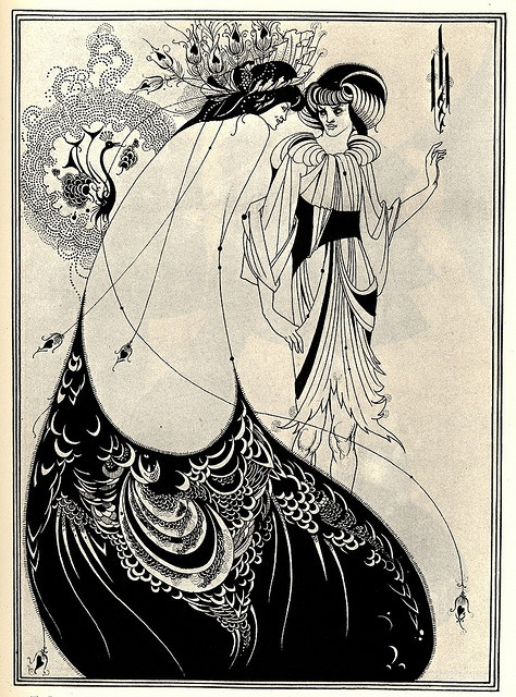 """The Peacock Skirt"", illustration by Aubrey Beardsley for Oscar Wilde's play Salomé (1892) Modernismo en las artes graficas"