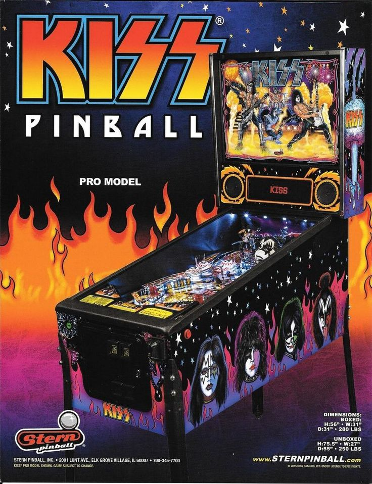2015 KISS Pinball Flyer Stern Game Promo Pro Model Starchild Demon Catman Ace…