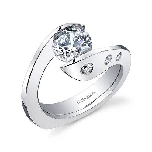 contemporary wedding rings | Modern Engagement Rings UK Modern Engagement Rings with Twisted Band ...