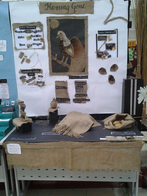 display 2d & 3d karung goni