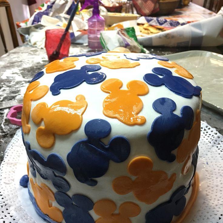 Torta fondant mickey mouse