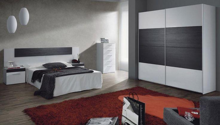 Venta de muebles de dormitorio matrimonio blanco / moderno Mod.Lupus