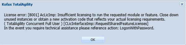 How to Handle Kofax TotalAgility 7 License Activation Error?