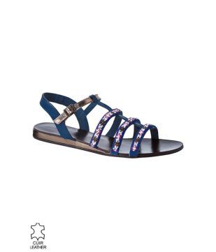 Sandales perlées femme multicolore - Promod  Surely flaunting these Boho sandals on my next Boho trip . Shopped from PROMOD only for Rs.900