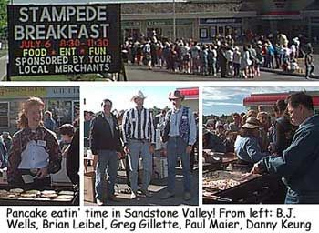 Stampede Breakfast ... Calgary, Alberta .  There may be no such thing as a free lunch, but every year about this time in Calgary Alberta, breakfast is gratis everywhere you turn. It's part of the tradition of the Calgary Stampede, which opens on Friday, July 5,