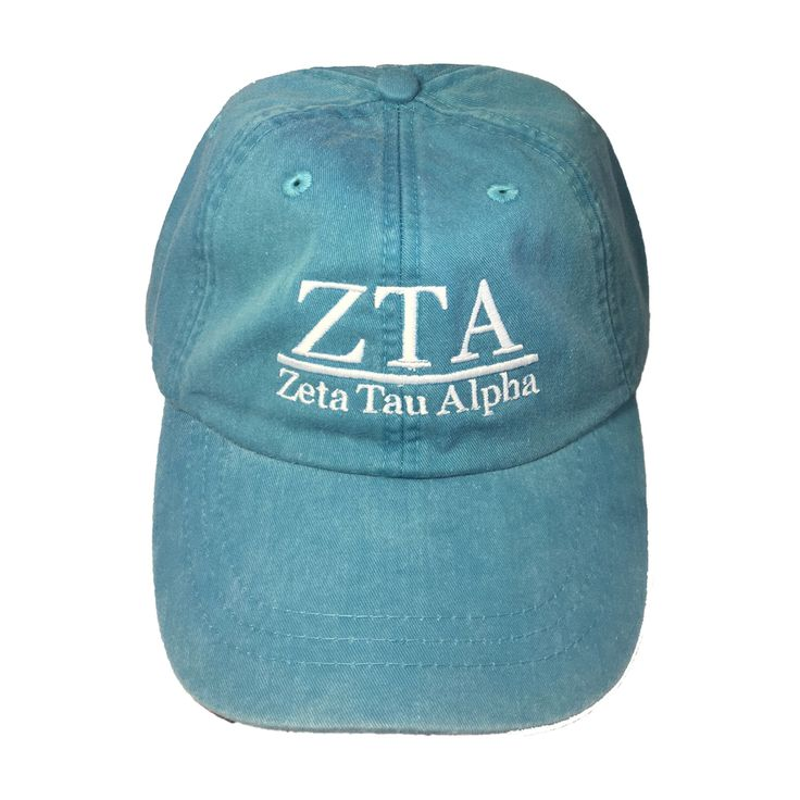 Zeta Tau Alpha ZTA Sorority Hat- Caribbean Blue - Brothers and Sisters' Greek Store