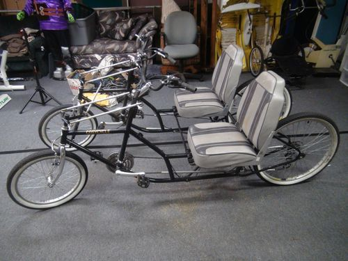 Cosycycle Recumbent Quadracycle Tandem Velomobile Side By
