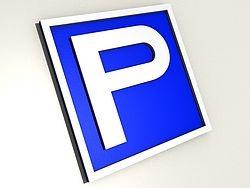 3D Parkplatzschild