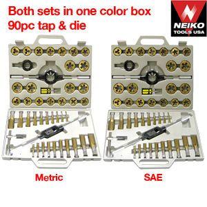 90 PC Titanium Tap & Die Set-SAE & Metric