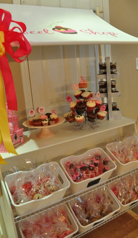 Bake Shoppe: like the idea of having little individually wrapped treats to resemble a real bakery