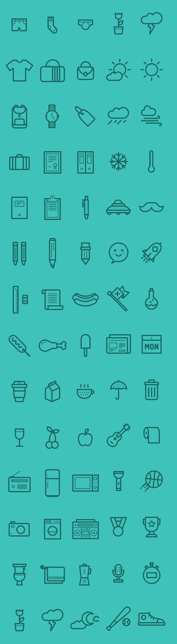 Medlee Iconset - AI EPS & PSD (80 Icons)