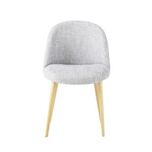 Chaise vintage gris chiné - Mauricette Maisons du monde 79€