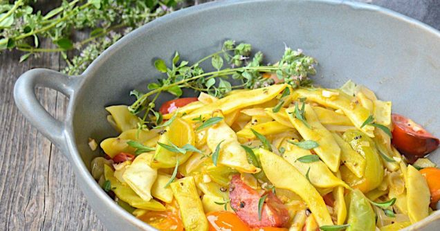 A lesser known bean variety, yellow Italian flat beans, also known as wax beans, are a