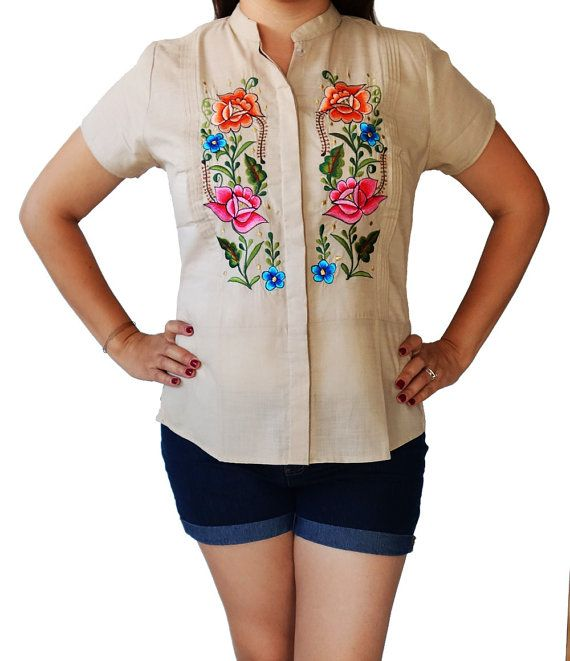 Mexican Floral Embroidered Short Sleeve by MexicanitaBoutique