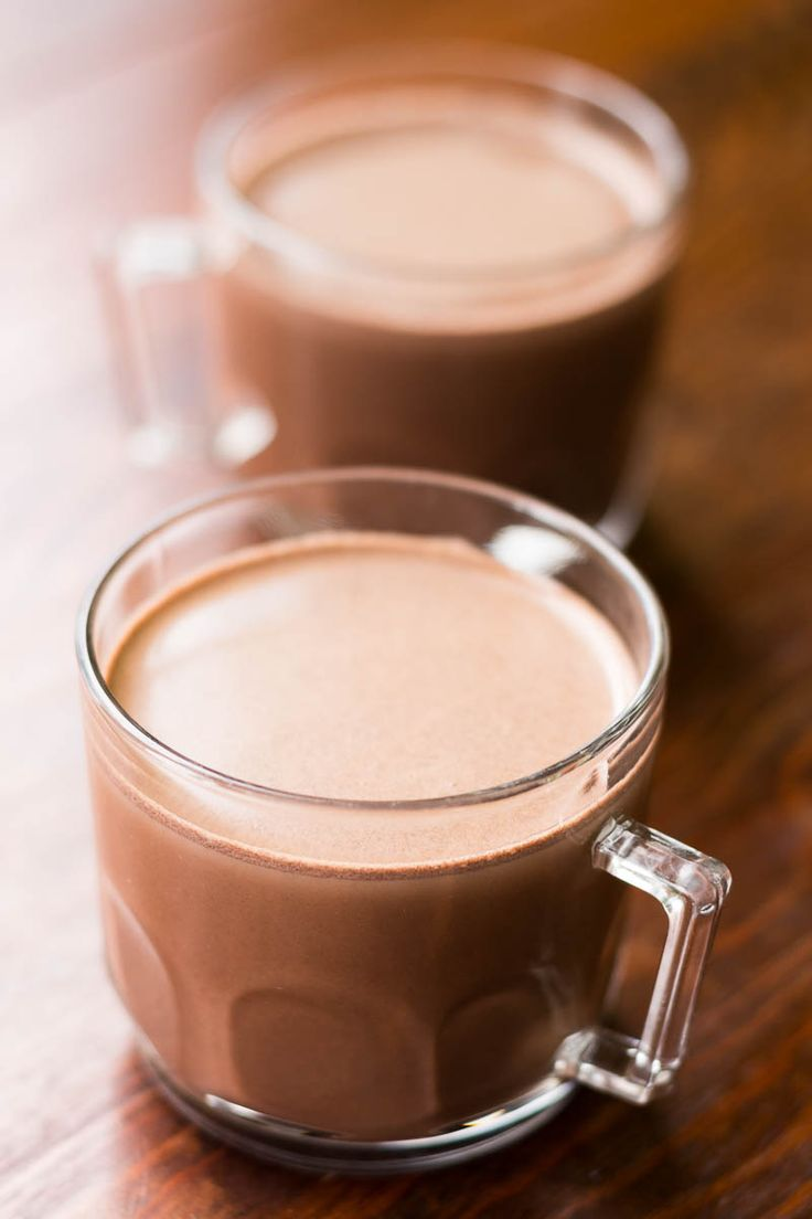 This Easy Hot Chocolate Recipe is perfectly simple and tastes a million times better than a mix!  All you need is cocoa, sugar, milk, and a bit of salt.  Try it when the weather gets cold!