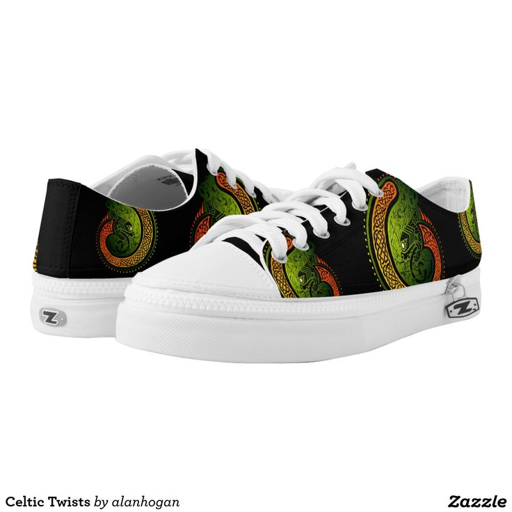 Celtic Twists Printed Shoes from Zazzle.  #shoes #unique #celtic #design #lowtopshoes #pairofshoes #designer #stylish #fresh #sneakers #expressyourself #durable #canvas #rubbersoles #zazzleshoes #zazzle #comfy #ZIPZ #interchangeable #zippedon #style #onthego