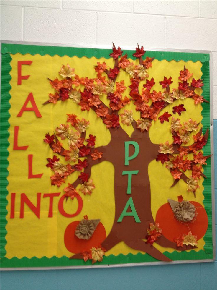 My first pta bulletin board pta stuff pinterest for Fall bulletin board ideas