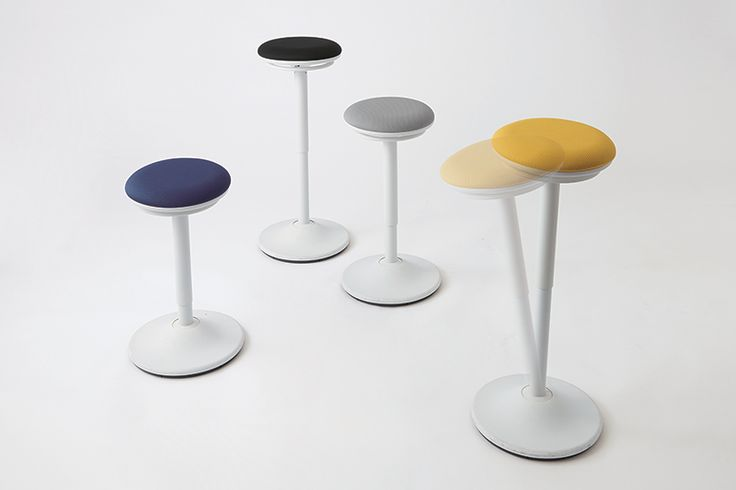 The Repiroue perching stool increases office health and energy. It's suitable for task seating, short-term seating, and meeting rooms. It's playful too!