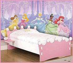 Princess Wall Decoration, other half of basement for girl.