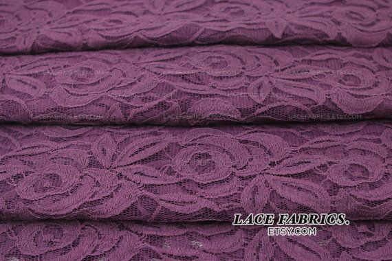 PLUM Purple Cotton Lace Fabric by the Yard Wedding Bridal Craft Lace Material Cotton Plum Purple Lace Fabrics - 1 Yard Style 231 on Etsy, $11.00
