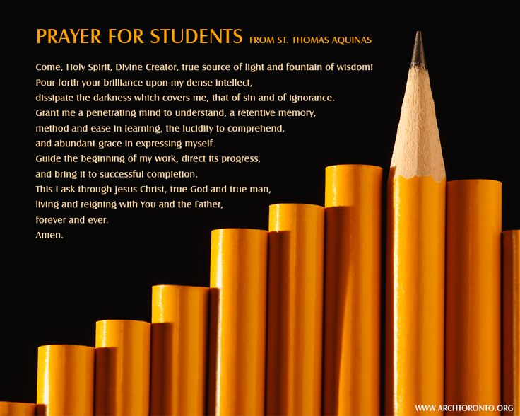 Prayer for students during exam time. | Prayers & Quotes ...